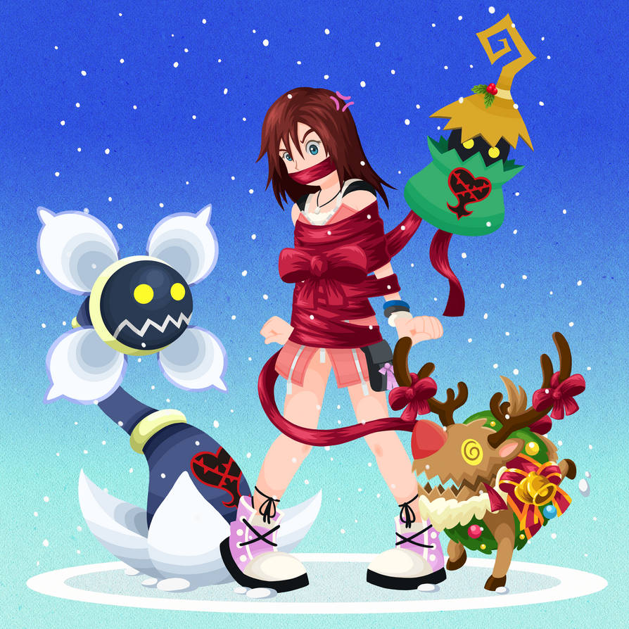 Request - Kairi gets wrapped by Wild-Cartoon-Feather