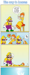 Request - Wario is tickling Daisy to death by Wild-Cartoon-Feather