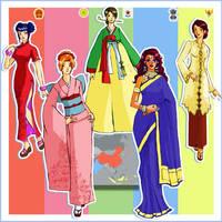 Asian Ladies by refudger