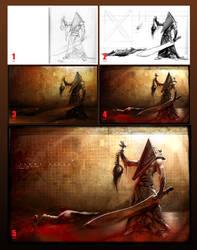 Pyramid head-steps by hamex