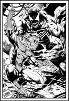 Spiderman Vs Venom By Marcio Abreu by JDB-Inks