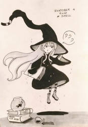 Inktober 04 Spell by Pandhes