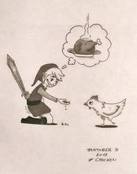 Inktober 05 Chicken by Pandhes