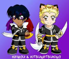 Chibi Keirou + Kitsunetsukino by tigerangel