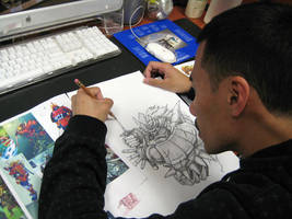 Bishamon Sketch by KLRbee