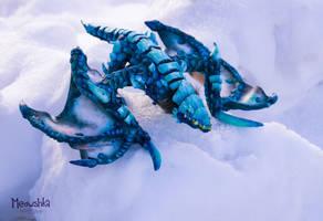 Blue Protodrake Handmade Plushie - WoW by miaushka-workshop