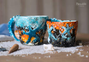Ceramic Mugs Seafloor by miaushka-workshop