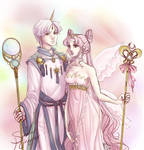 The Lady and Helios by suiseiusagi
