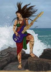 Shakti on the Bass by Radhikita