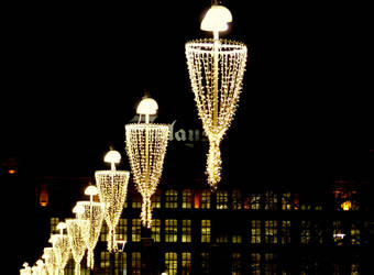 Lights of Tampere Finland by Paleee