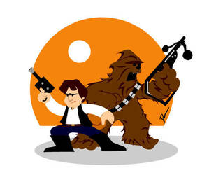 Han and Chewie by Dantooine
