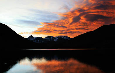Saddlebag Lake sunset by iFix