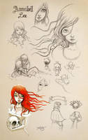 Annabel Lee Sketches by Disezno