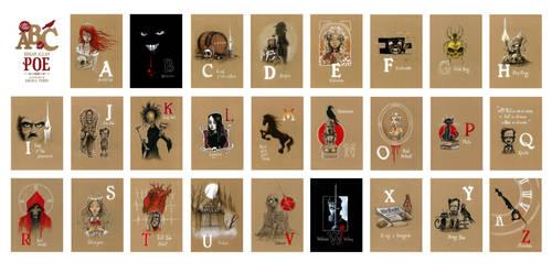The ABC of Edgar Allan Poe by Disezno