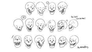Expression sheet Papyrus 01 by Ketchupberry