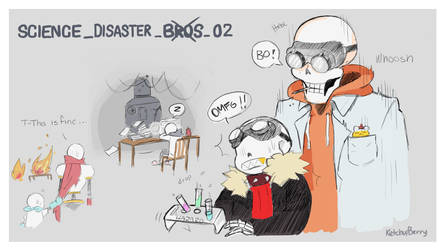 Science Disaster bros 02 by Ketchupberry
