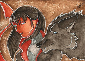 ACEO Demon by Stellarine