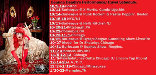New Tour Schedule by deannadeadly