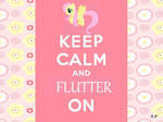 Keep Calm and Flutter On :D by sparkle21498