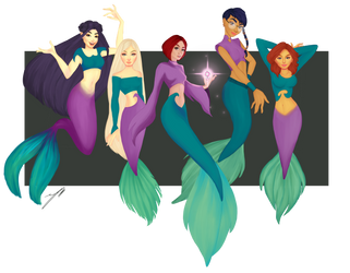 w.i.t.c.h mermaids by Lacuny