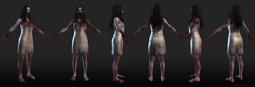 Zombie Girl T Pose by screenlicker