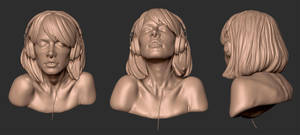 Girl Bust 01 - another view by screenlicker