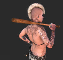 Punk Girl tattoo detail 01 by screenlicker