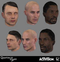 007 Quantum of Solace - Various Hero Heads by screenlicker