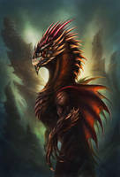 horned dragon by no1hellangle