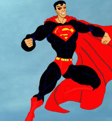 Evil Superman by grumpygrimone