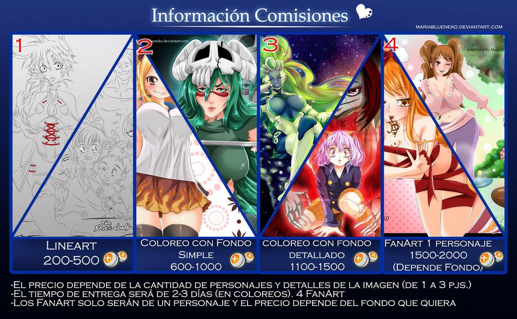 Comisiones. by MariaBlueNeko
