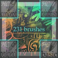 HC 2017 Krita Brush Set! by hushcoil