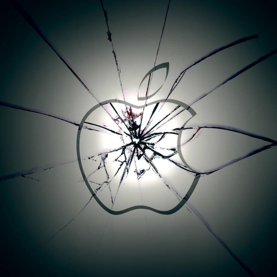 iPad Apple Wallpaper Shattered by thekingofthevikings
