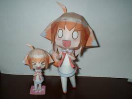 Kitsune-musume papercraft by veroro