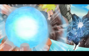 Naruto vs Sasuke by LadyGT