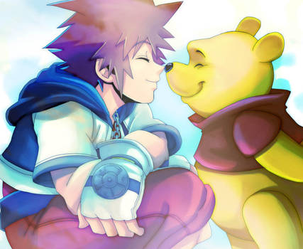 KH_Sora and Winnie_ by LadyGT