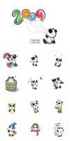 Panda Tiem Calendar by snowmask