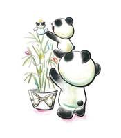 Panda Tree Tiem by snowmask