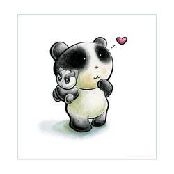 Panda Plush Tiem by snowmask