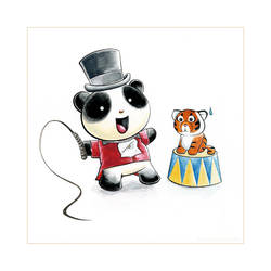 Panda Circus Tiem by snowmask