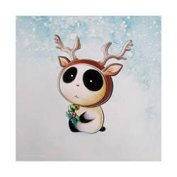 Panda Reindeer Tiem by snowmask