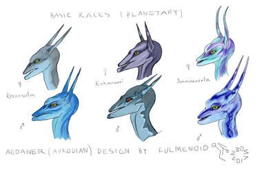 Avrodian races by fulmenoid
