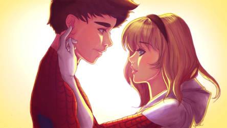 Spider-ManXSpider-Gwen by mrzbean