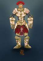 Rune-carved Clockwork Golem by TravTheMad