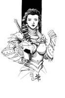 female warrior by TravTheMad