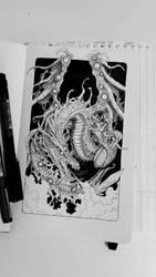 nightmare dragon by TravTheMad