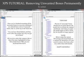 XPS Tutorial- Removing/Hiding Unused Bones by aydean