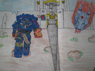 crimson fists drawing by bluefire5678