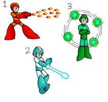 Mega Man Weapons Doodle 1 by SnowmanEX711