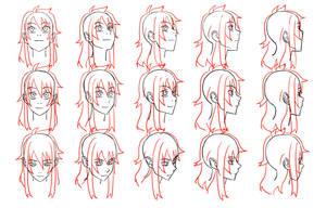 head angles by Flipfloppery